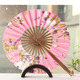 Custom logo bamboo folding wedding hand fan