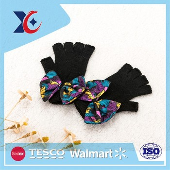 Cold Weather Winter Working fashion half finger knit gloves