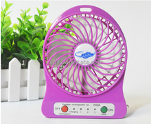 "HAVE STOCK for sell 4"" rechargeable mini fan CE/ROHS certification good selling solar mini clip fan"