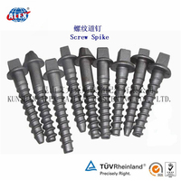 Railway Ss35 Square Head Screw Spike, factory supply ,Zinc Plate or HDG