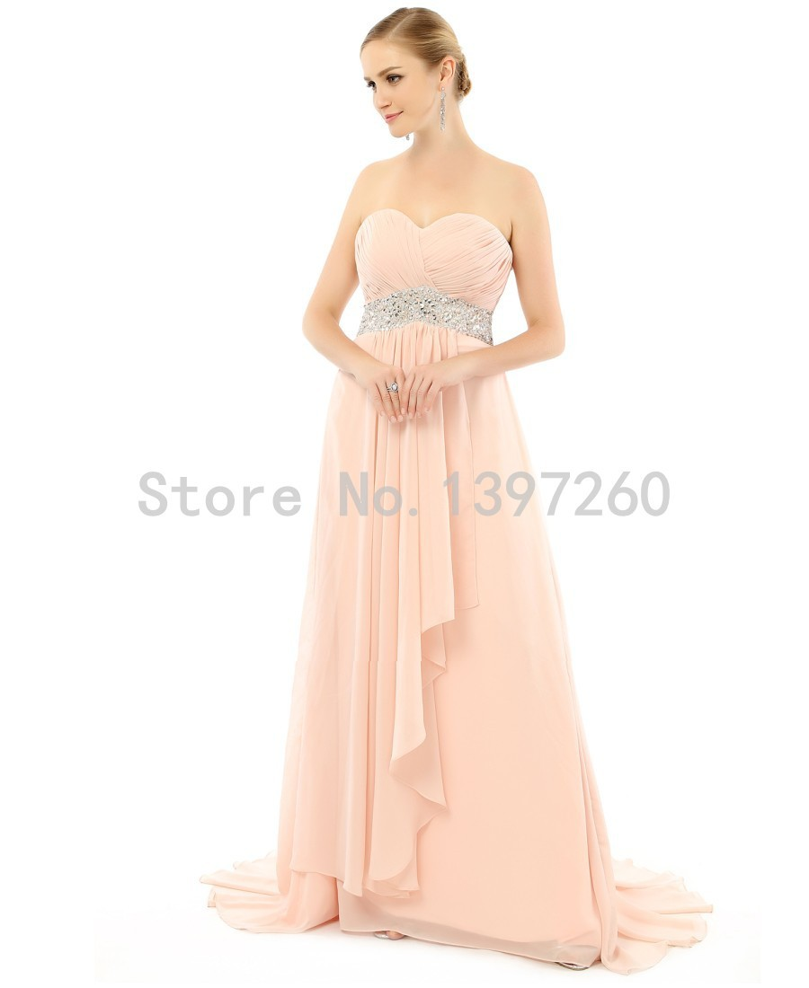Strapless Champagne Gold Corcal Bridesmaid Dresses Long ...
