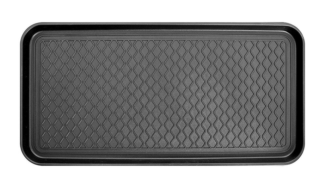 "Multipurpose Tray and Waterproof Mat - Shoe & Boot Tray, Pet Bowl Mat (30"" x 15"")"