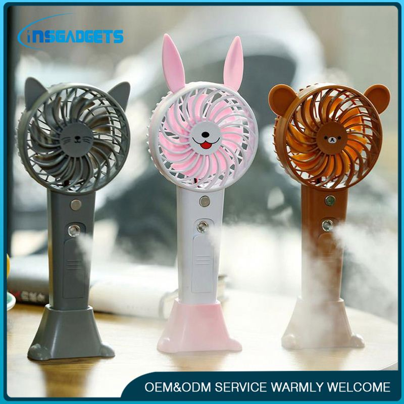 Portable mini mist fan with water spray ,h0t53J rechargeable portable mini fan for sale