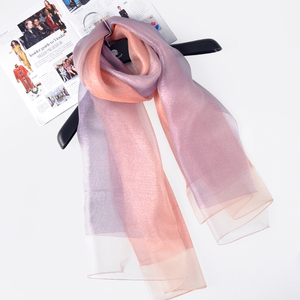 Fashion scarf 2017 best-selling women long double-deck silk blend scarf shawl glitter hijab