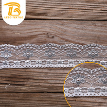 cheap spandex / nylon knit eyelet narrow lace trim design