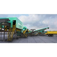Waste Management Municipal sorting conveyor msw segregation plant