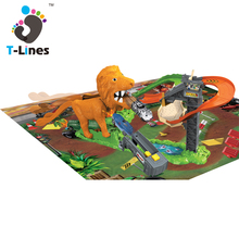 Timeline Track Kids lion toy cars race electric track with IC