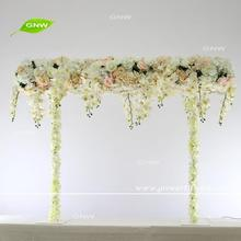 GNW FLWA170901-001 Metal stand orchid hanging flower arch centerpieces for wedding