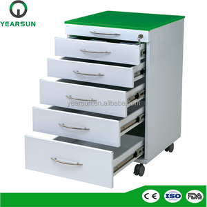 Factory supply dental assistant mobile cabinet with drawer inserts