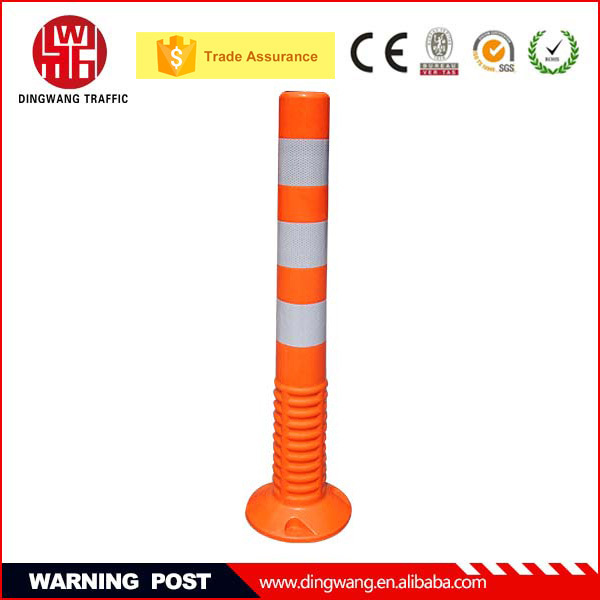 2015 Popular base can fixed Flexible and Reflective Traffic Warning Post