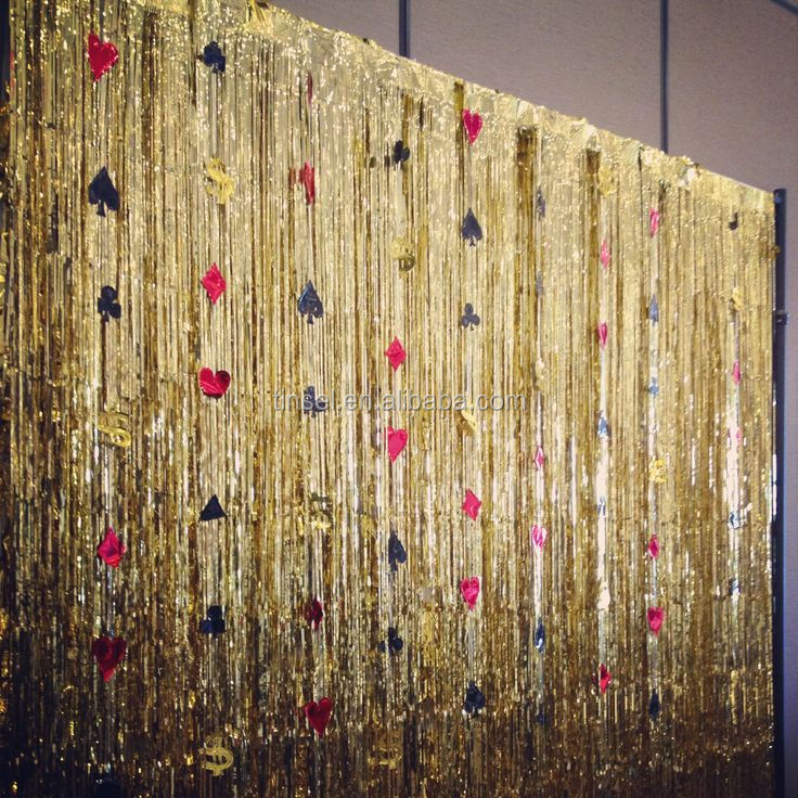 Awesome FUN EXPRESS METALLIC 3 FT X 8 FT. GOLD FOIL FRINGE CURTAINS DOOR WINDOW  CURTAIN
