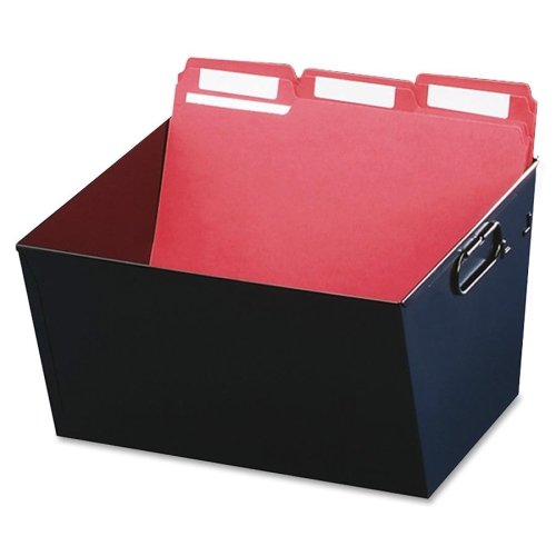 """Wholesale CASE of 5 - MMF Industries Posting Tubs-Posting Tub, Letter File, 12-1/8""""x11-3/8""""x7"""", Black"""