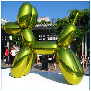 Art Statue 304 Large color balloon dog stainless steel sculpture for sale