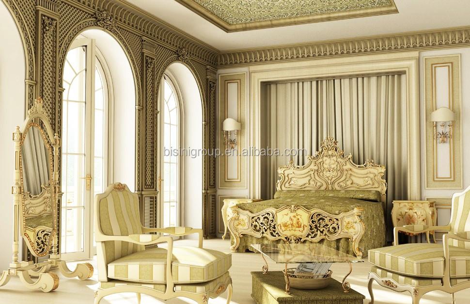 الكلاسيكية الأنيقة الفرنسية فرساي ماستر غرفة نوم ثلاثية الأبعاد