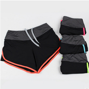 plain compression fitness gym shorts tight mesh ladies lycra yoga pant