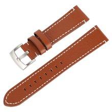 * 18 20 22 24 мм Мужские и женские кожаные Наручные часы ремешок ремень прочный мягкий штырь Пряжка ремешок для часов аксессуары для часов(China)