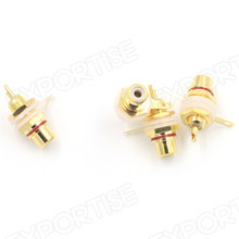 Gold Amplifier Audio Terminal RCA Connector Female Chassis Panel PCB Jack