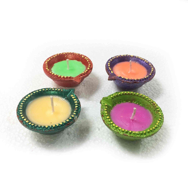 Multicolor Diwali Diya 4 Pack