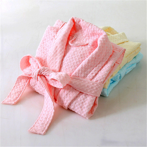 wholesale unisex cheap white cotton waffle spa robe for hotel