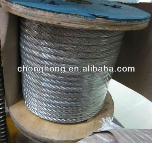 wire rope electrical conductors for building maintenance unit