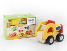 DIY assemble wooden car mini wooden truck coloful wooden toy car