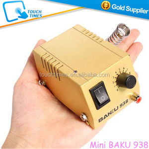 Latest 2 in 1 BAKU Mini Soldering Station for Mobile Phone Repairing BK 938 with Soldering Iron