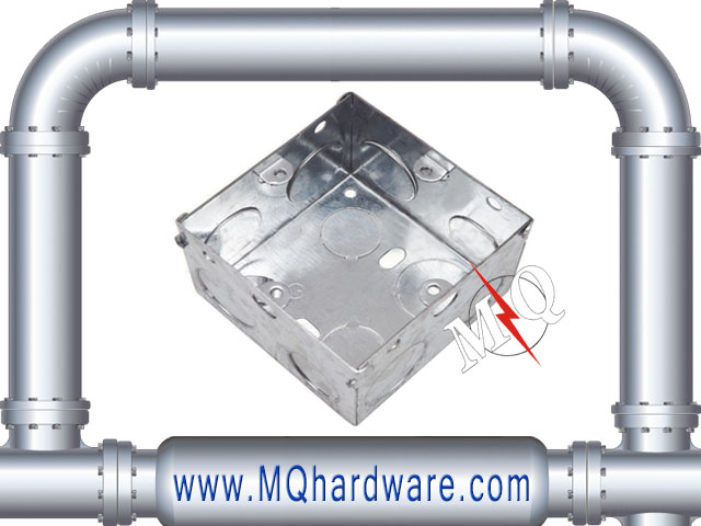 Galvanized Steel Metal Switch Socket Electrical Box/3x3 gi box