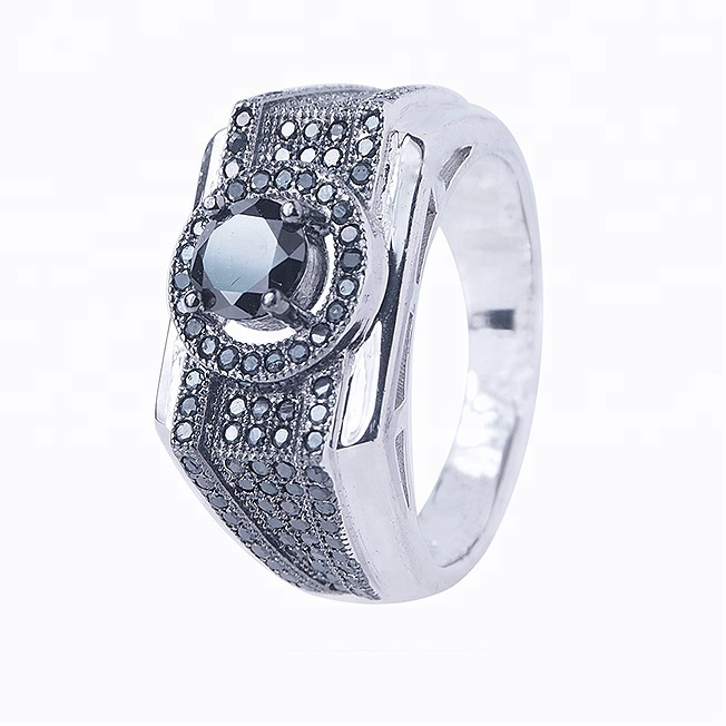 Punk Rock Fashion 925 Sterling Silver Jewelry Men Black Diamond Rings Buy Punk Rock Fashion Silver Men Ring Fashion 925 Sterling Silver Jewelry Men Black Diamond Rings Product On Alibaba Com