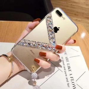 DIY Diamond TPU Case For iPhone 8 , Ring Ring Cell Phone Case For iPhone 8