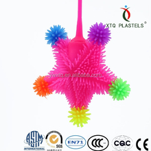 Popular five star toys, flashing kids toy, lovely puffer toy for kids