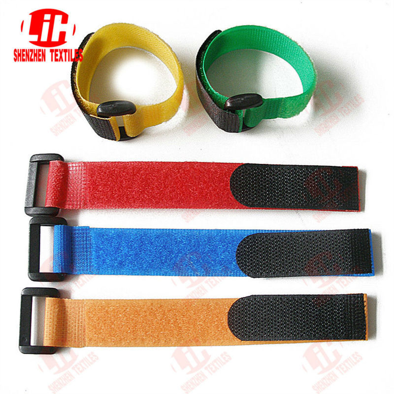 Blue Hook And Loop Binding Straps With Buckle/adjustable