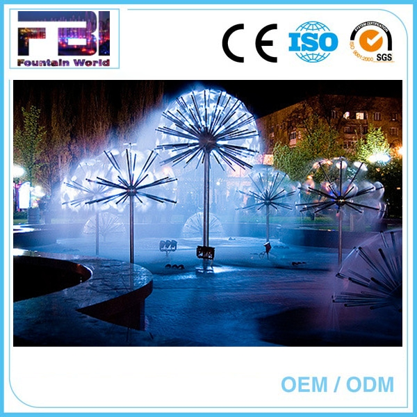 Factory Price Outdoor stainless steel dandelion program fountain fountain system