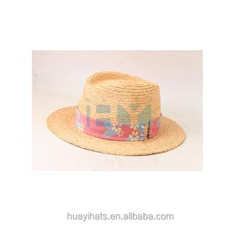 Hot Sale Wide Brim Raffia Straw Fedora Hat For Men - Buy Stingy Brim ... 9ab0fa0097a