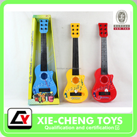 Eco-friendly Six-stringed Plastic musical instrument guitar Ukulele educational toy for kids