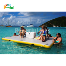 Inflatable Island Floating Raft, Inflatable dock ลอยแพลตฟอร์ม