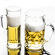 1liter printed straight glass beer mug with handle promotion glass mug