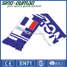 Printing Knitted Mini Terylene Football Fan Scarf
