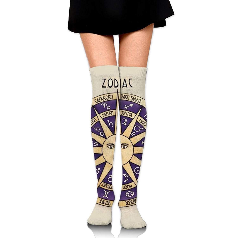 Zaqxsw Tattoo Sun Women Vintage Thigh High Socks Long Socks For Ladies