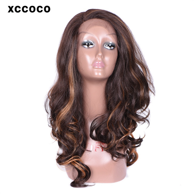 Top Selling Quality Cheap Factory Supply 4/27 color Synthetic Hair Lace Frontal Wig