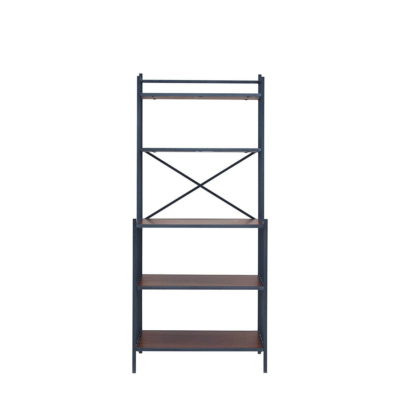 "Furniture HotSpot – Bakers Rack – Rustic Gray w/ Dark Distressed Pine - 29"" W x 19.5"" D x 64"" H"