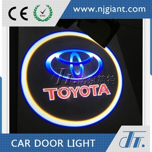 Led logo light car door logo projector for toyota