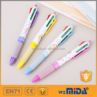 promotional 4 color retractable ball point pen sample free MD-D5002