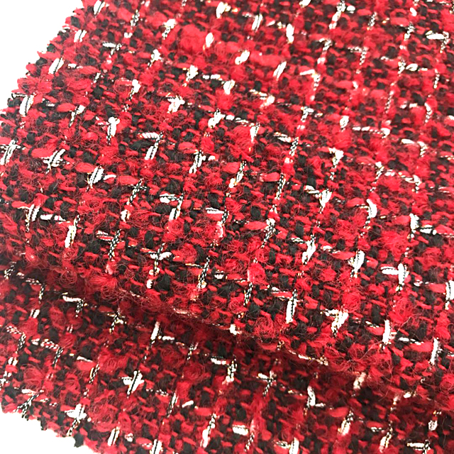 New design check wool Polyester fabric for suit from china