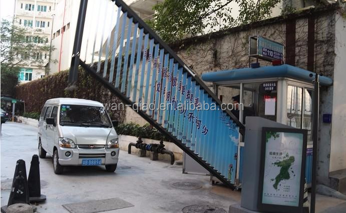 Car parking lot parking gate systems advertising automatic barrier