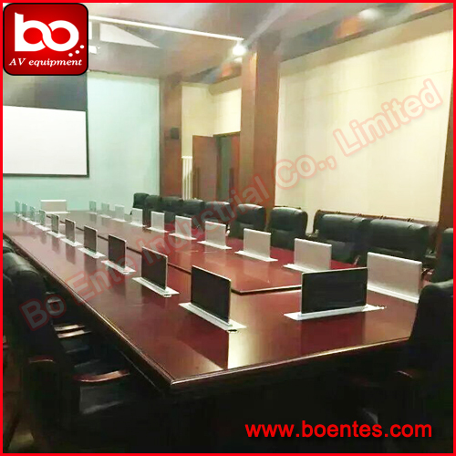 Conference Table Pop Up Lcd Motorized Monitor Lift With 15