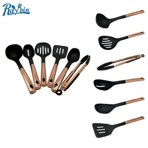 High Resistant 6 Pieces Set Stainless Steel Copper Kitchen Utensil Set