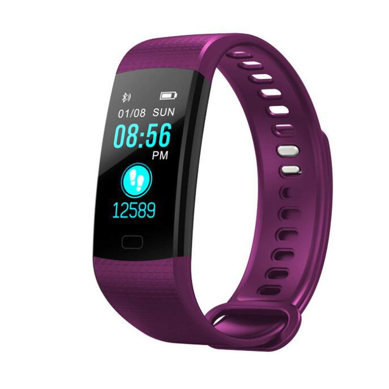 Processes Y5 Smart Bracelet Heart Rate Monitor Fitness Bracelet Color Screen Blood Pressure Activity Tracker,purple