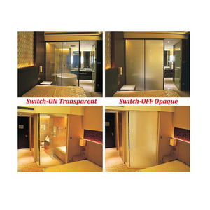 Transparent and Opaque Glass Decorative Film Switchable