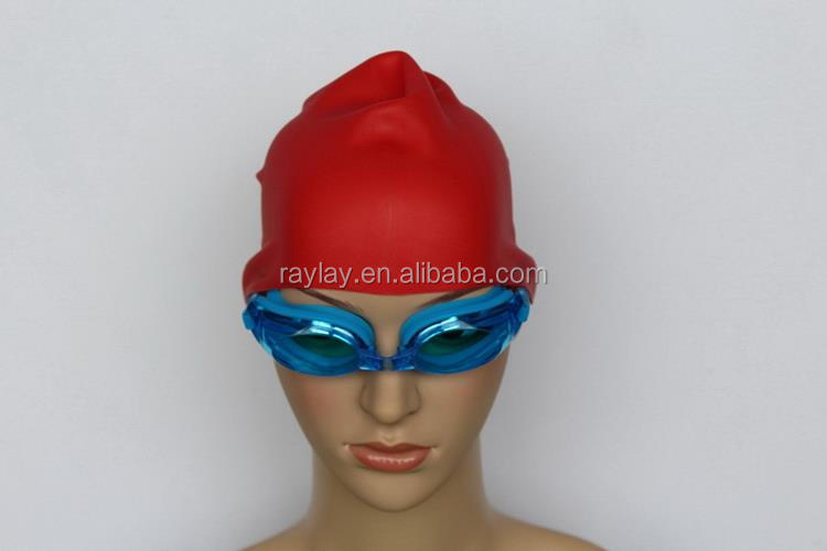 Top grade top sell funny fish shape silicone swimming cap