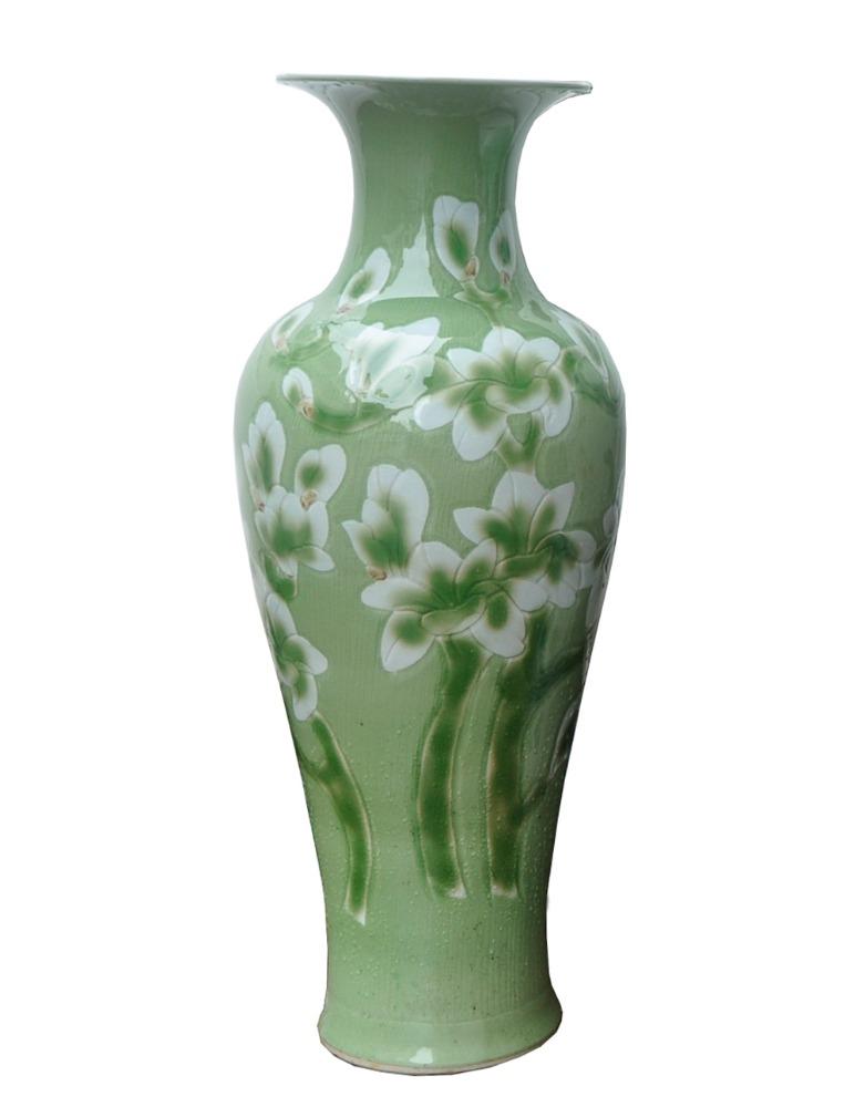chino pintado a mano porcelana tall jarrones piso peona flores diseo